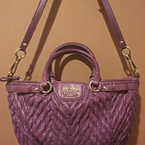 Rare Purple Authentic Coach Est 1941 Handbag Purse
